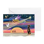 XmasStar/Dobie (nat) Greeting Card