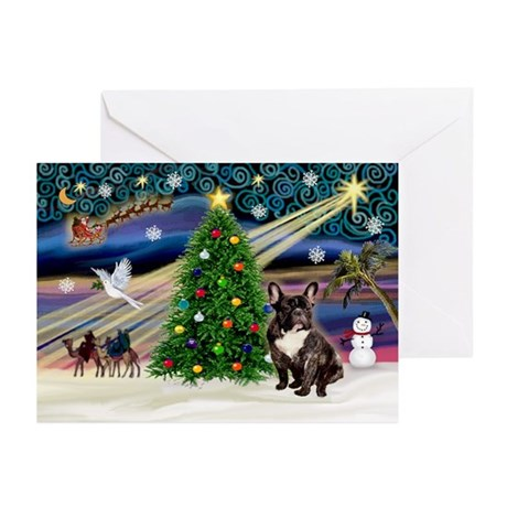 XmasMagic/French BD (br) Greeting Cards (Pk of 10)