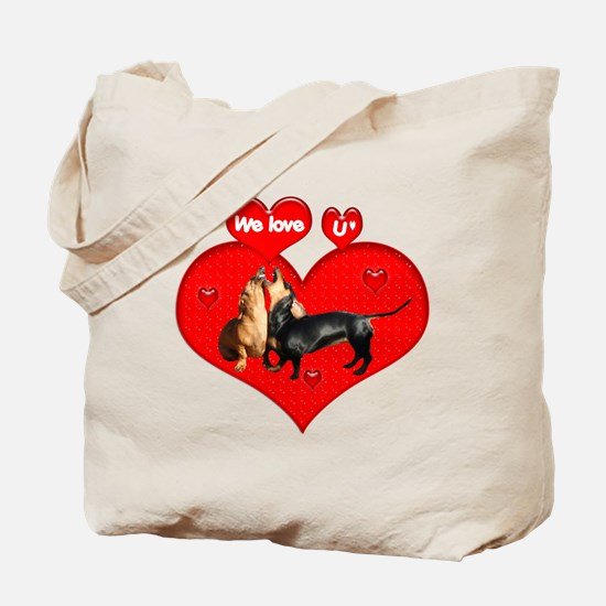 We Love U Tote Bag