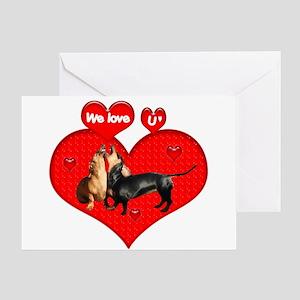 Dog wedding greeting cards cafepress we love u greeting card m4hsunfo