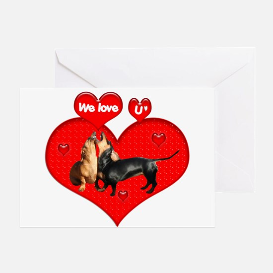 We Love U Greeting Card