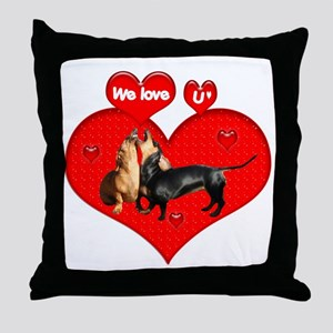 We Love U Throw Pillow