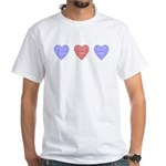 American Hearts White T-Shirt
