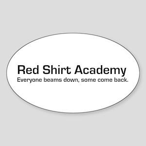 Red Shirt Academy Oval Sticker