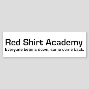 Red Shirt Academy Bumper Sticker