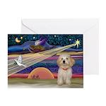 XmasStar Havanese pup Greeting Card