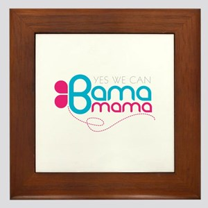 obama mama butterfly Framed Tile
