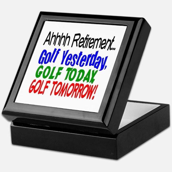 Ahhh retirement golf Keepsake Box