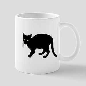 Small Black Cat Mugs