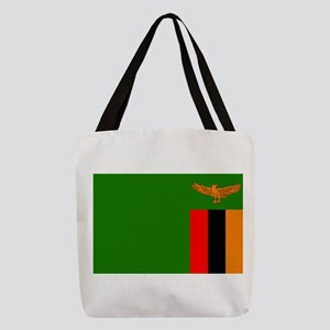 Flag of Zambia Polyester Tote Bag