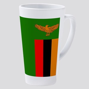 Flag Of Zambia 17 Oz Latte Mug