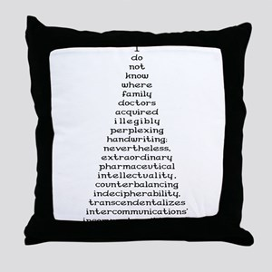 Handwriting Throw Pillow