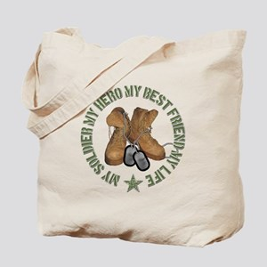 My Soldier, My Hero, My Best Tote Bag