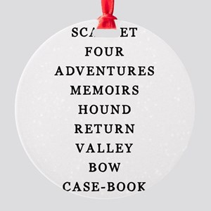 Holmes Adventures Round Ornament