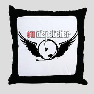 911 Dispatcher Angel Headset Throw Pillow