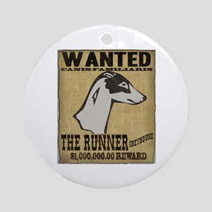 Wanted: Greyhound Ornament (Round)