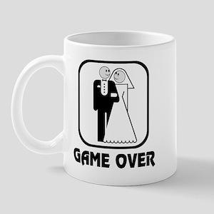 Smiling Bride & Groom Game Over Mug