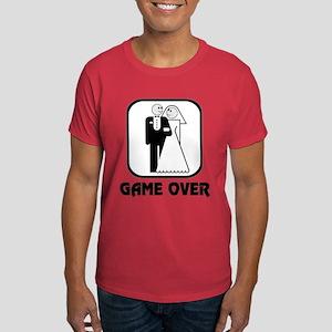 Smiling Bride & Groom Game Over Dark T-Shirt