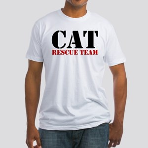 Cat Rescue Team Fitted T-Shirt
