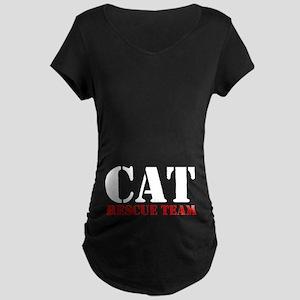 Cat Rescue Team Maternity Dark T-Shirt