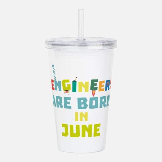 Engineers are born in Acrylic Double-wall Tumbler