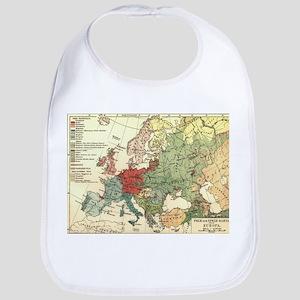 Vintage Linguistic Map of Europe (1907) Baby Bib