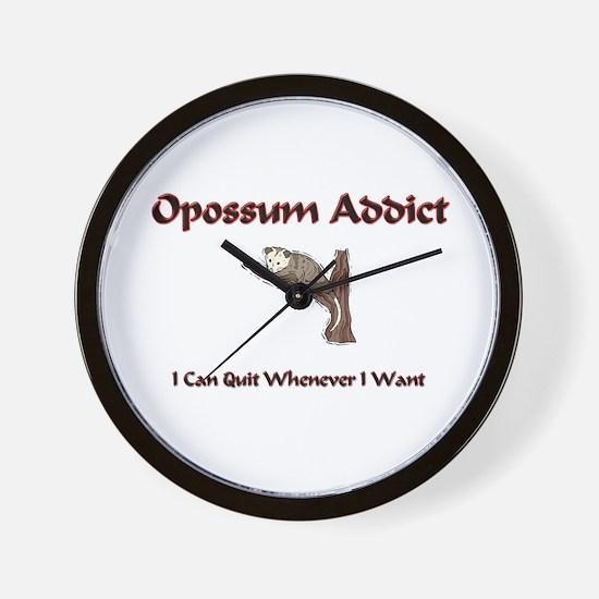 Opossum Addict Wall Clock
