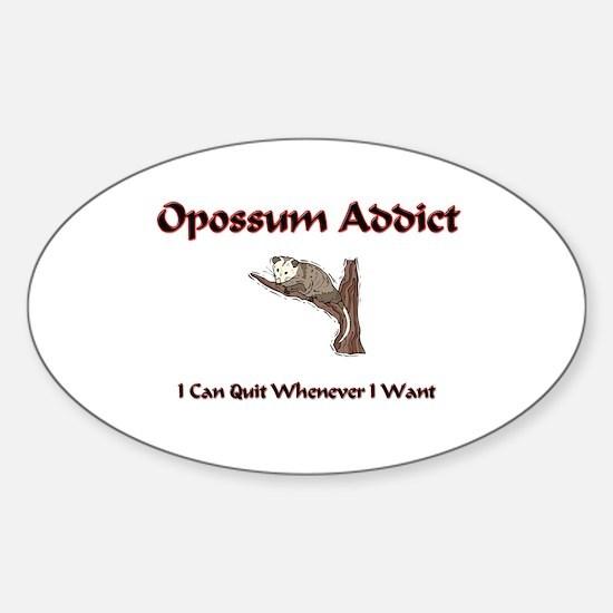 Opossum Addict Oval Decal