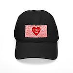 I Love You Heart Black Cap