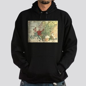 Vintage Linguistic Map of Europe (1907) Sweatshirt