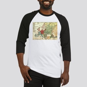 Vintage Linguistic Map of Europe ( Baseball Jersey