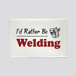 Rather Be Welding Rectangle Magnet