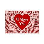 I Love You Heart Rectangle Magnet