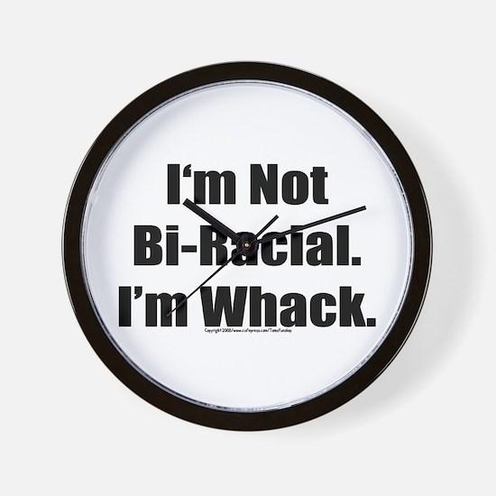 Funny Bi racial Wall Clock