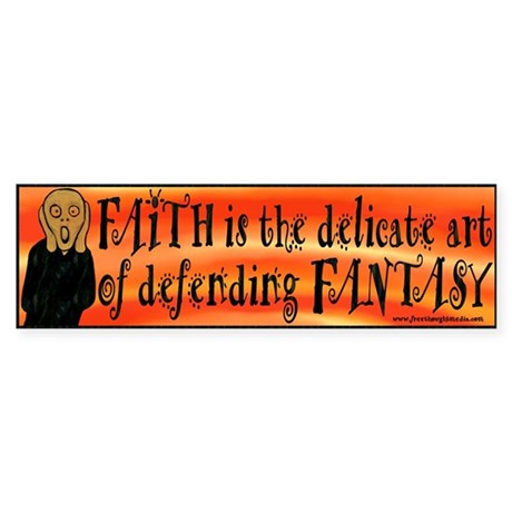 Faith Defend Fantasy Bumper Sticker