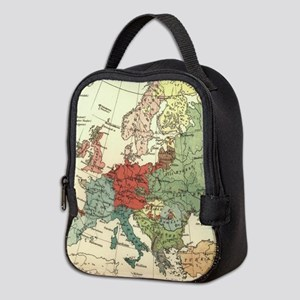Vintage Linguistic Map of Europ Neoprene Lunch Bag