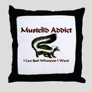 Mustelid Addict Throw Pillow