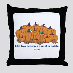 in a Pumpkin Patch Throw Pillow