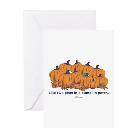 in a Pumpkin Patch Greeting Card