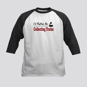 Rather Be Collecting Trains Kids Baseball Jersey