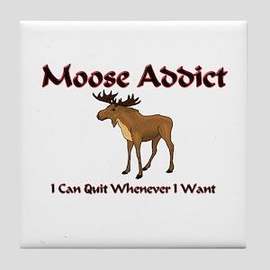 Moose Addict Tile Coaster