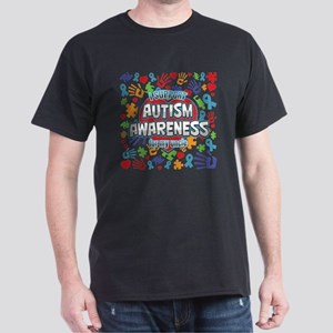 Support Autism Awareness Uncle Dark T-Shirt