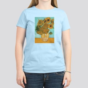 Van Gogh Vase with Sunflowers White T-Shirt
