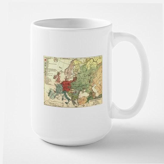 Vintage Linguistic Map of Europe (1907) Mugs