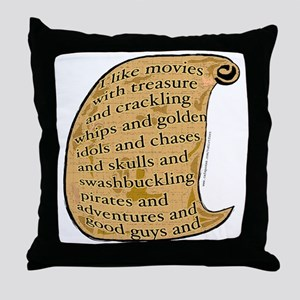 Summer Movies Throw Pillow