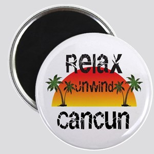 Relax, Unwind, Cancun Magnets