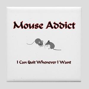 Mouse Addict Tile Coaster