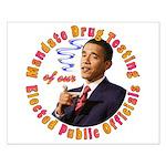 Barack Obama Drug Test Small Poster