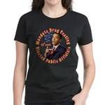 Barack Obama Drug Test Women's Dark T-Shirt