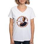 Barack Obama Drug Test Women's V-Neck T-Shirt